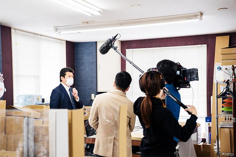 「ニュースブリッジ北九州」撮影風景